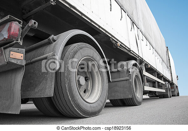 Low angle viiew of truck - csp18923156