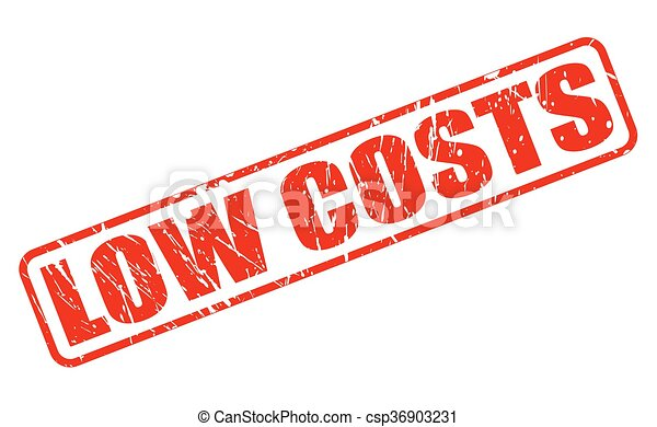LOW COSTS red stamp text - csp36903231