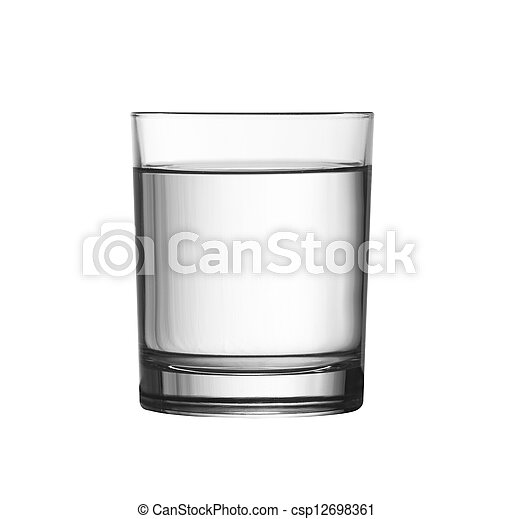 low full of water glass isolated on white included - csp12698361