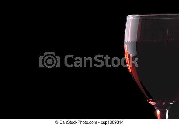 Low key red wine glass - csp1089814