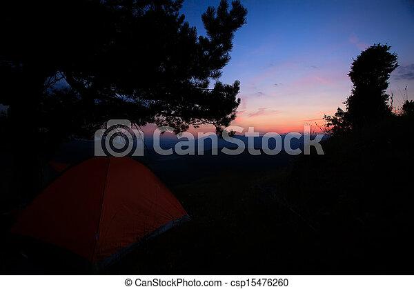 low light sunset - csp15476260