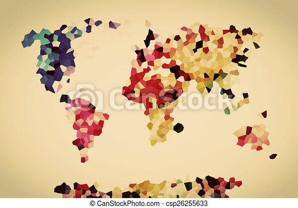 Low poly colorful world map vintage low poly colorful world map low poly colorful world map vintage csp26255633 gumiabroncs Image collections