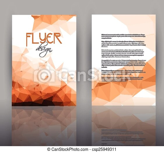Low Poly Design For Flyer Template Double Sided Flyer Template With