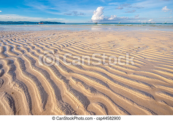 Low tide at beach, Philippines - csp44582900
