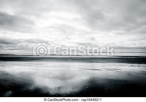 Low tide beach - csp16449211