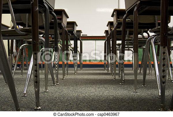 Low view of desks - csp0463967