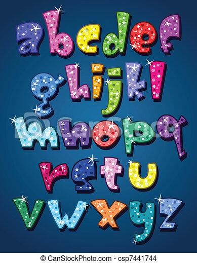 Lower case sparkling alphabet - csp7441744