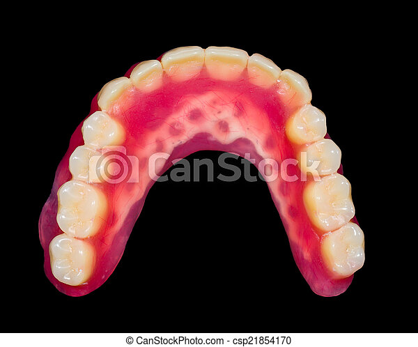 Lower denture - csp21854170