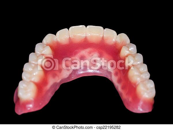 Lower denture - csp22195282