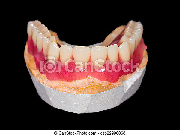 Lower denture - csp22998068