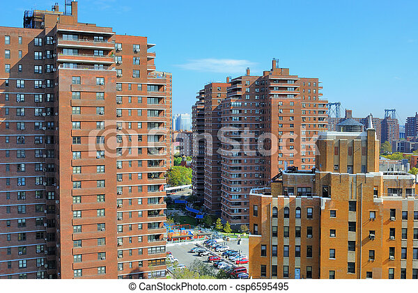 Lower East Side Cityscape - csp6595495
