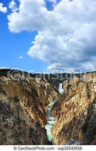 Lower Falls of Yellowstone - csp32542656