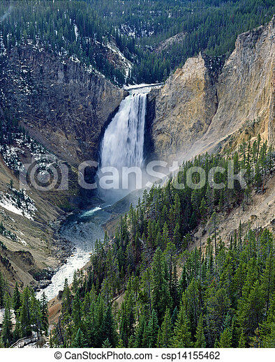 Lower Falls, Yellowstone National Park - csp14155462