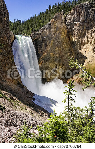 Lower falls, Yellowstone National Park, Wyoming - csp70766764