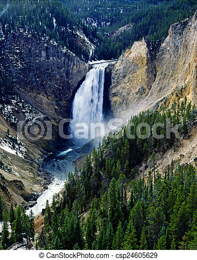 Lower Falls, Yellowstone National Park - csp24605629