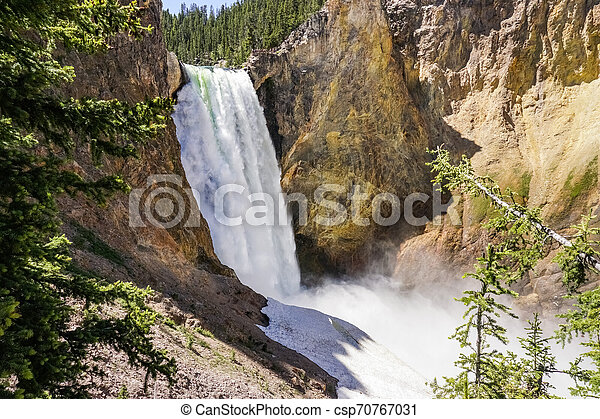 Lower falls, Yellowstone National Park, Wyoming - csp70767031
