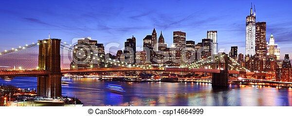 Lower Manhattan Skyline - csp14664999