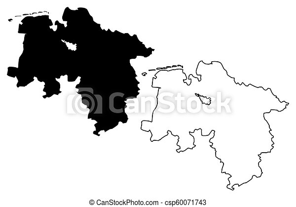 Lower Saxony Germany Map.Lower Saxony Federal Republic Of Germany State Of Germany Map