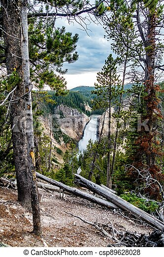 Lower Yellowstone Falls in the Yellowstone National Park - csp89628028
