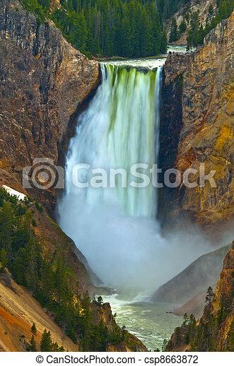 Lower Yellowstone Falls, Yellowstone National Park - csp8663872