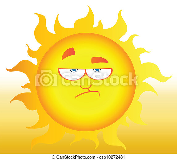 Lowering Sun Shining - csp10272481