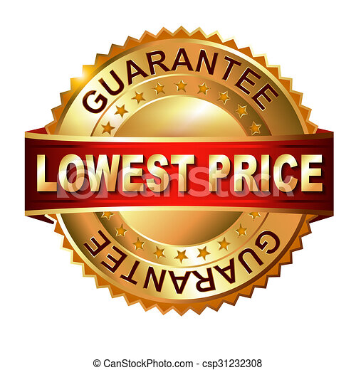 Lowest Price golden label with ribbon. - csp31232308