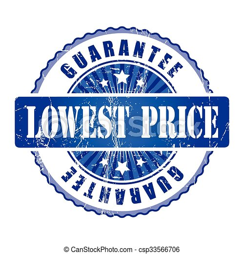 Lowest Price  Guarantee Stamp.  - csp33566706