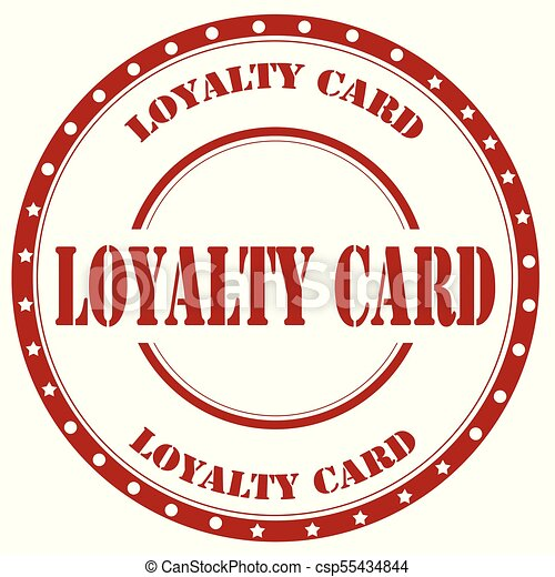 Loyalty Card Stamp Red With Text Cardvector