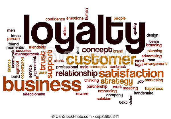 Loyalty Word Cloud Concept With Business Trust Related Tags
