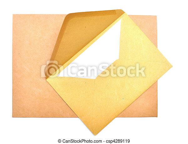 ltter, ペーパー, 封筒 - csp4289119