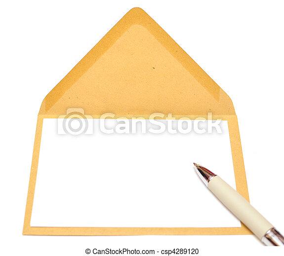 ltter paper and envelope - csp4289120