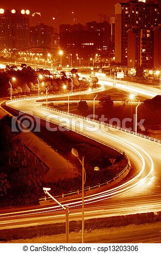 luce, autostrada, piste - csp13203306