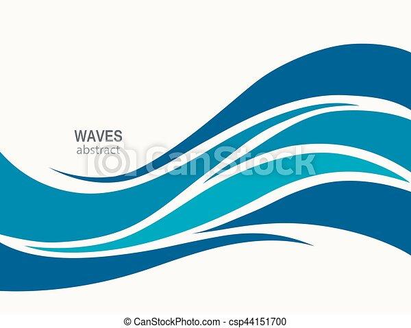 Luce Blu Onde Stilizzato Motivi Dello Sfondo Marino Surf Luce