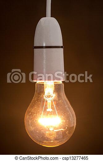luce, chiudere, bulbo, abbagliante, su - csp13277465
