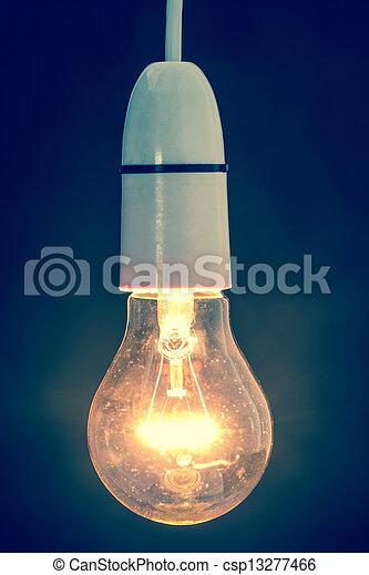 luce, chiudere, bulbo, abbagliante, su - csp13277466