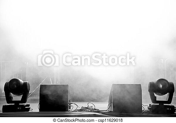 luce, concerto, palcoscenico vuoto - csp11629018