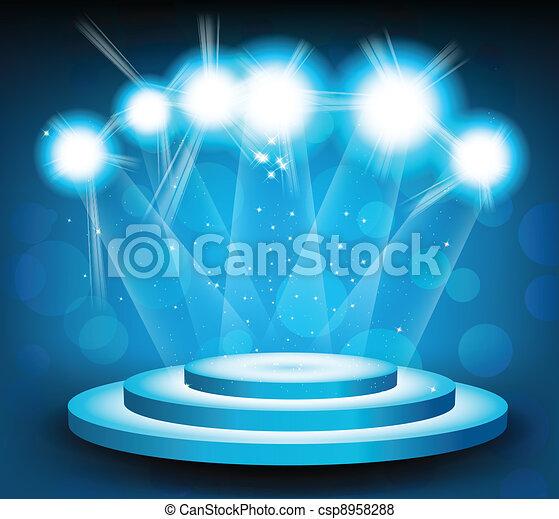 luce, fondo, palcoscenico - csp8958288