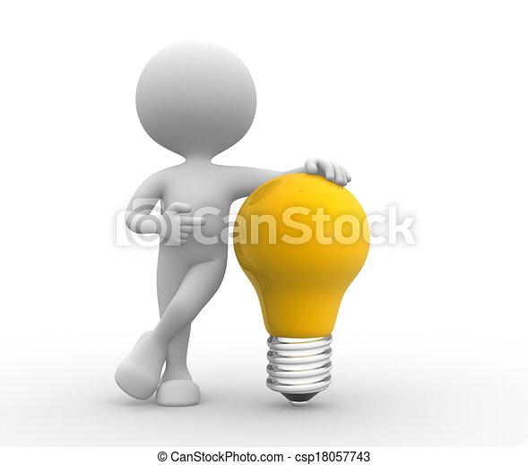 luce, giallo, bulbo - csp18057743