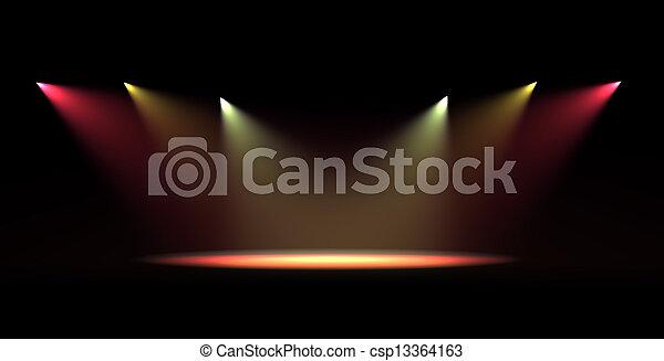 luce, macchia, scena - csp13364163