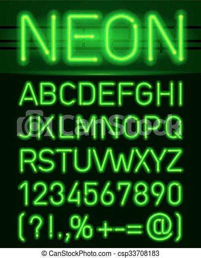 Luce Neon Alfabeto Lettere Luce Tubo Neon Scuro Alphabe