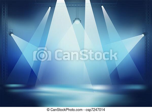 luce, palcoscenico - csp7247014