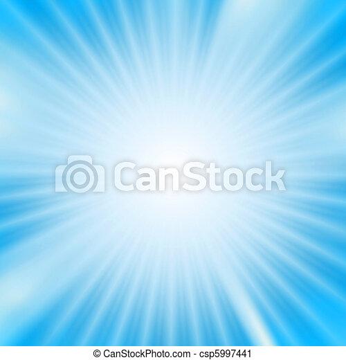 luce, sopra, scoppio, fondo, cyan - csp5997441