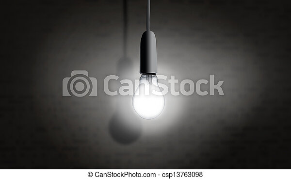 luce, uno, bulbo - csp13763098