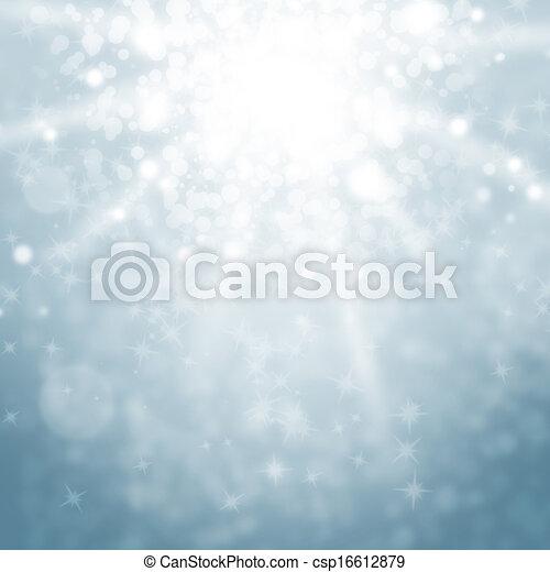 Luces borrosas y destellos en un cielo azul - csp16612879