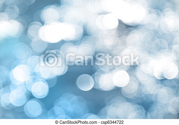 Luces azules. - csp6344722