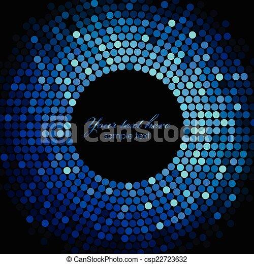Vector azul marco de luces de discoteca - csp22723632