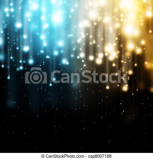luces azules, oro - csp8007188