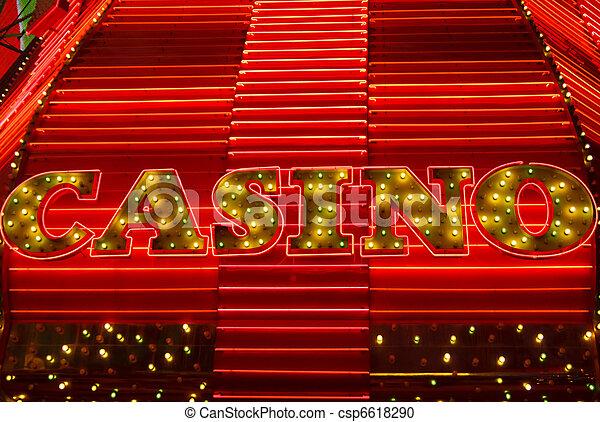 Luces de casino y neón - csp6618290