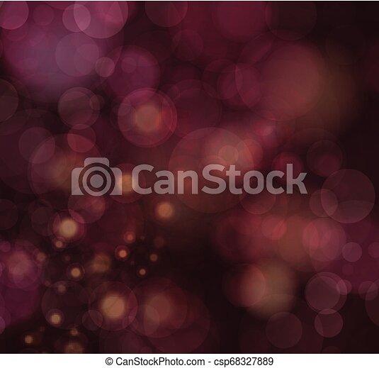 Fondo festivo con luces desfocadas - csp68327889