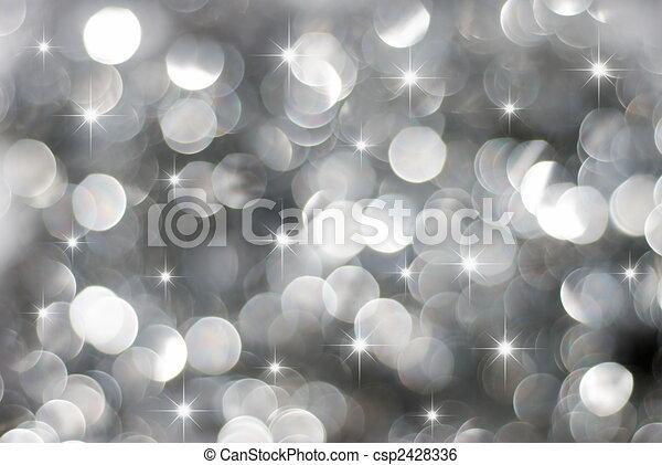 Luces plateadas - csp2428336